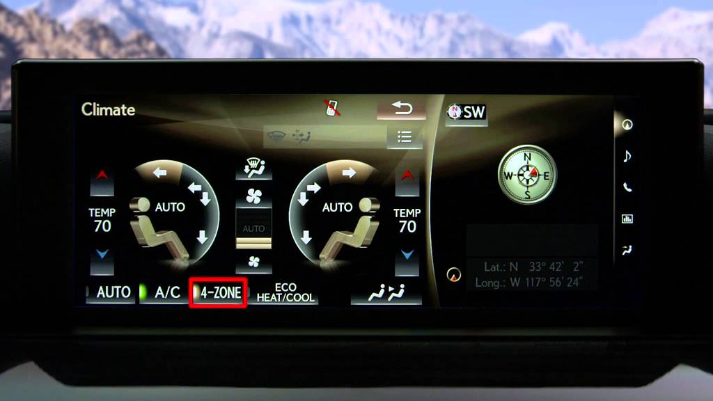 Rear Climate Control with Navigation | Lexus How-To - YouTube