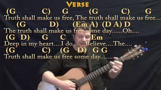 We Shall Overcome (HYMN) Fingerstyle Guitar Cover Lesson in G with Chords/Lyrics