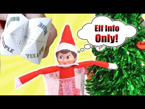 Elf on the Shelf DIY Paper Fortune Teller | DavidsTV