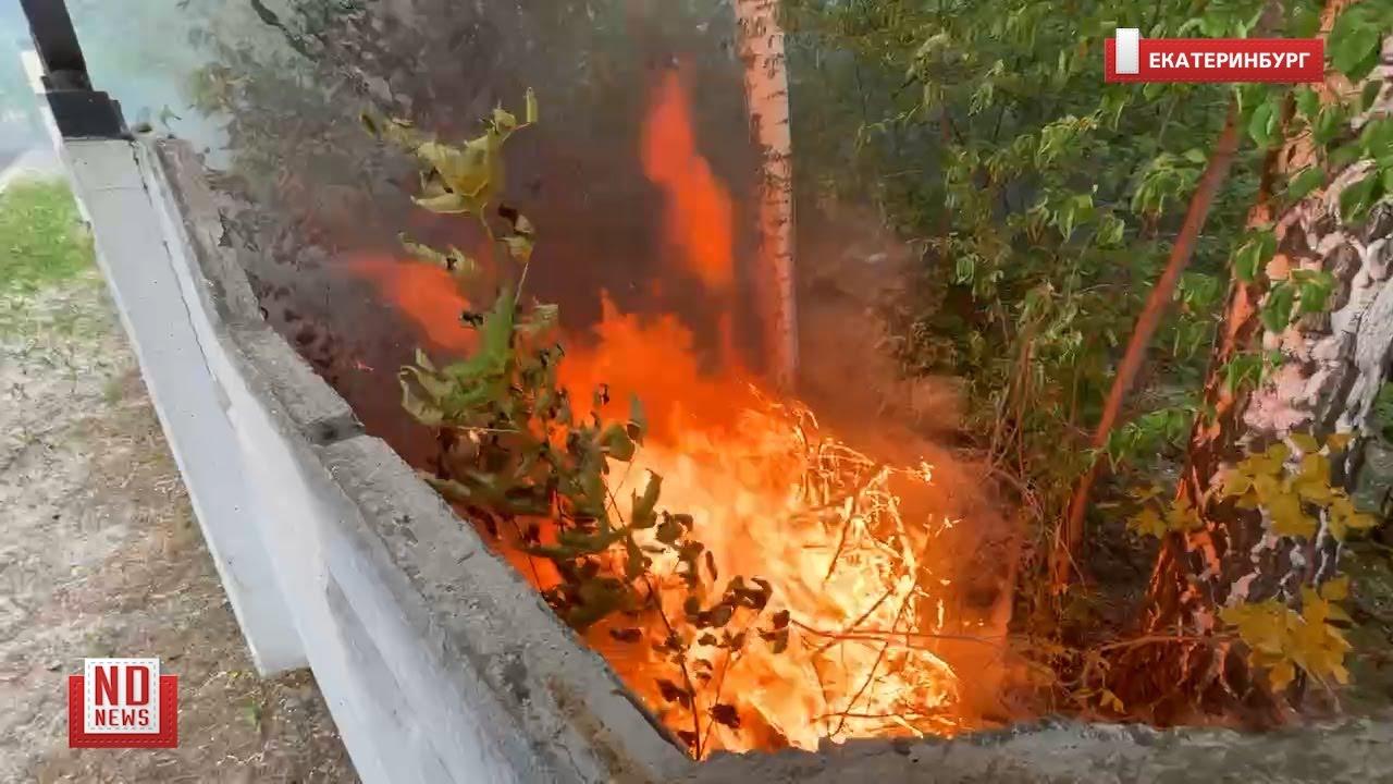 Пожар на Михайловском кладбище в Екатеринбурге. No comment
