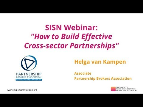 545670be7f9f03 WEBINAR: How to Build Effective Cross-sector Partnerships - SISN