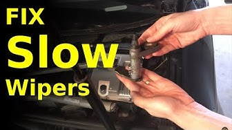 fix SLOW moving or seized windshield wipers