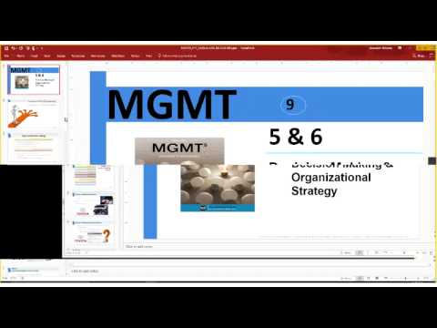 MGT 305 Decision Making & Strategy