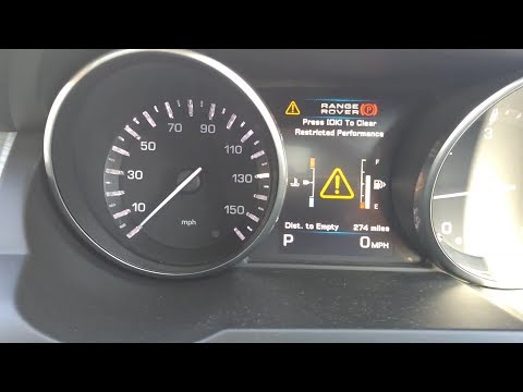 Restricted Performance Warning Range Rover Evoque 2012
