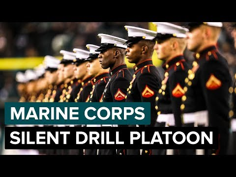United States Marine Corps Silent Drill Platoon Performs At Halftime | Philadelphia Eagles