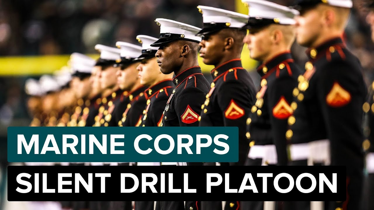 United States Marine Corps - Silent Drill Platoon Performs at Halftime