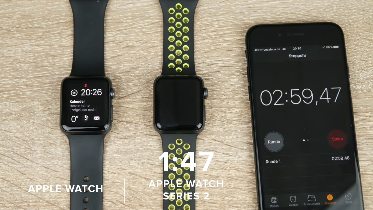 APPLE WATCH vs APPLE WATCH SERIES 2 (Nike+) // Speedtest // 4K