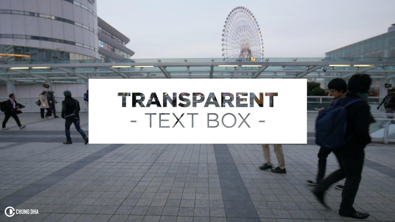 transparent text box preset adobe premiere pro tutorial. Black Bedroom Furniture Sets. Home Design Ideas