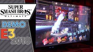 Super Smash Bros. Ultimate - Ice Climbers & Fox vs. Mario & Pikachu! (E3 2018 gameplay)