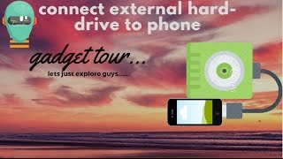 Connect external hard drive to Android phone without any Y- cable
