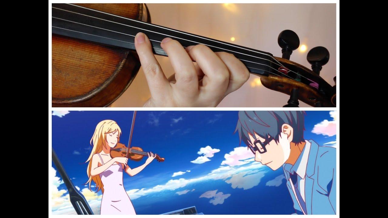 Your Lie In April Hikaru Nara Goose House Easy Violin Tutorial Chords Chordify
