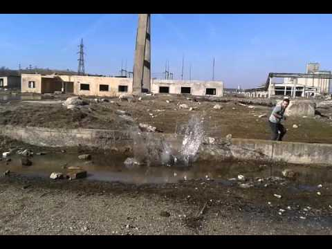 abandoned concrete factory in Alexandria-ROmania