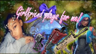 Girlfriend 1st time playing for me!! (Fortnite// High kill games live// Upcoming Youtuber)