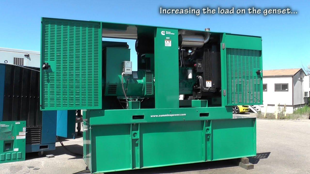 Cummins 150 kW Diesel Generator Used Standby QSB7G3NR3 Unit