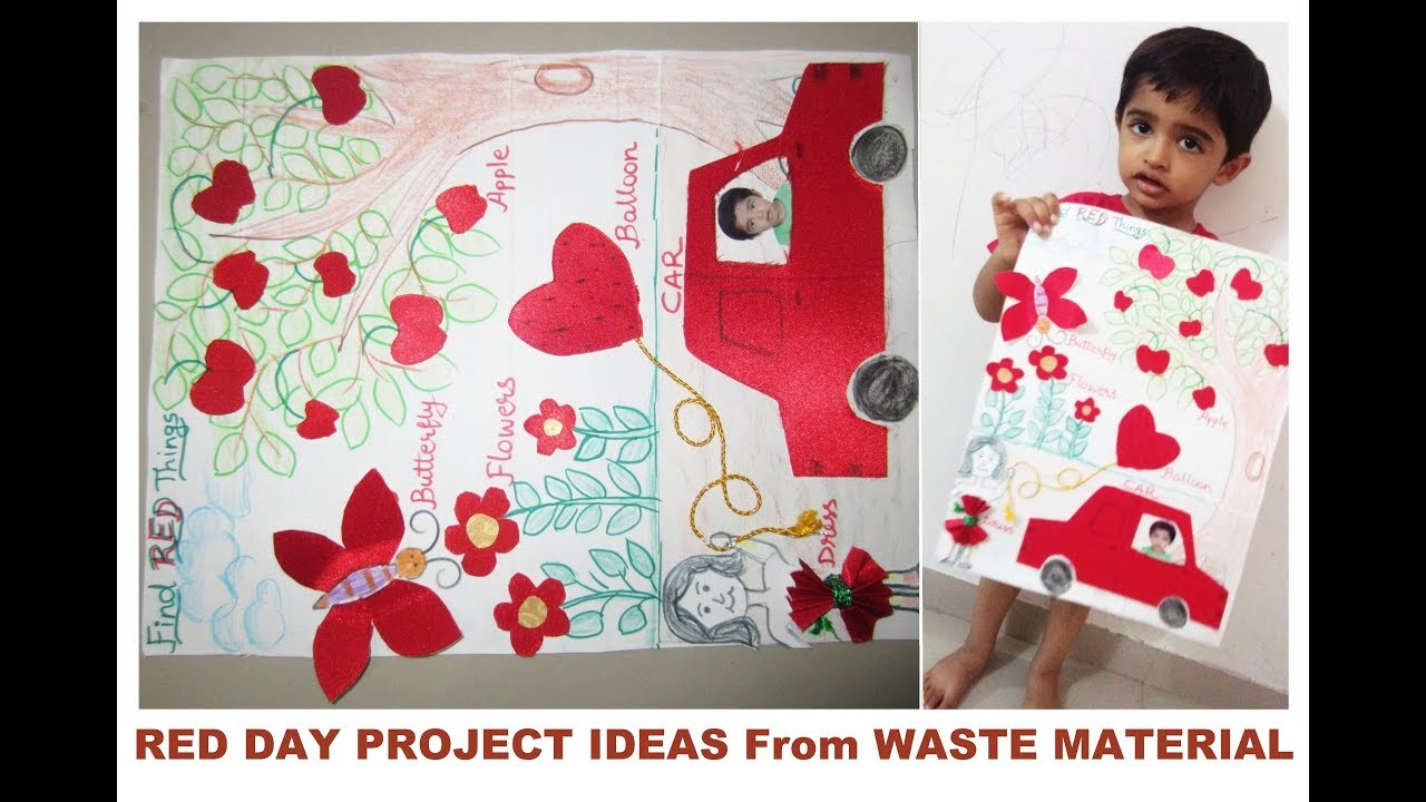 red day craft ideas day celebration day project ideas for small 5322