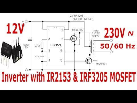 Inverter with IR2153 12-230V AC - YouTube