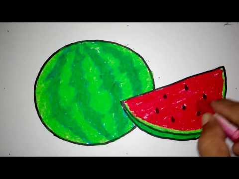 Cara Menggambar Semangka Untuk Anak