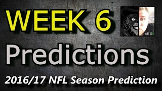 Week 6 - 2016 NFL Predictions