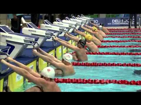 Watch New Delhi Commonwealth Games 2010 Mens 50m Backstroke Final HDTV
