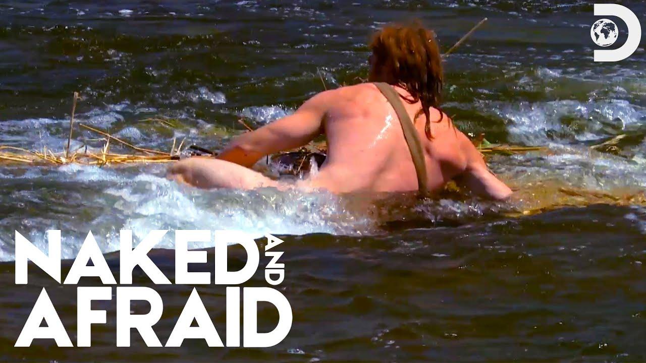 Naked Whitewater Rafting   Naked and Afraid