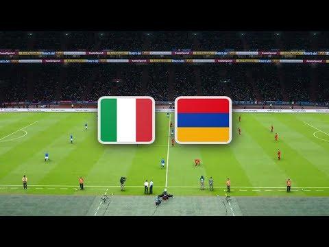 Италия - Армения обзор матча футбольных сборных PES 2020