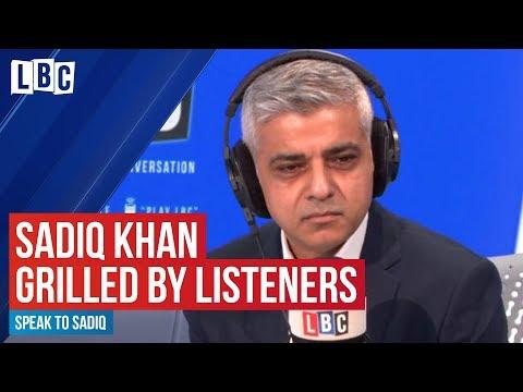Sadiq Khan grilled by LBC listeners | Speak To Sadiq