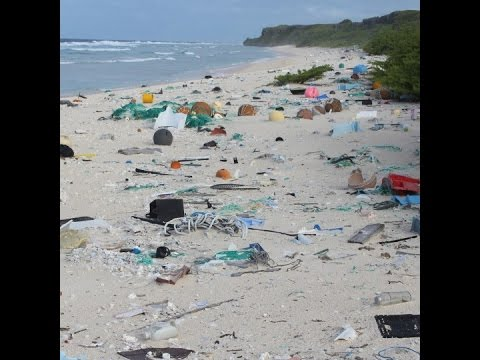 Pacific island covered by tonnes of plastic waste