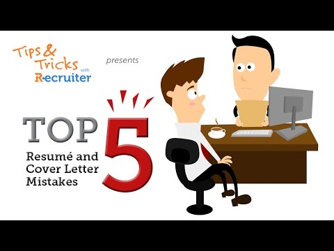 Top Resume And Cover Letter Mistakes  Youtube