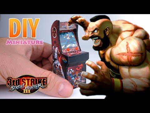 DIY Miniature Arcade Machine   DollHouse   No Polymer Clay!