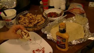 Recipe for Chicken Fajitas with Caramelized Onions, Peppers, Sour Cream & Creamy Chipotle Sauce