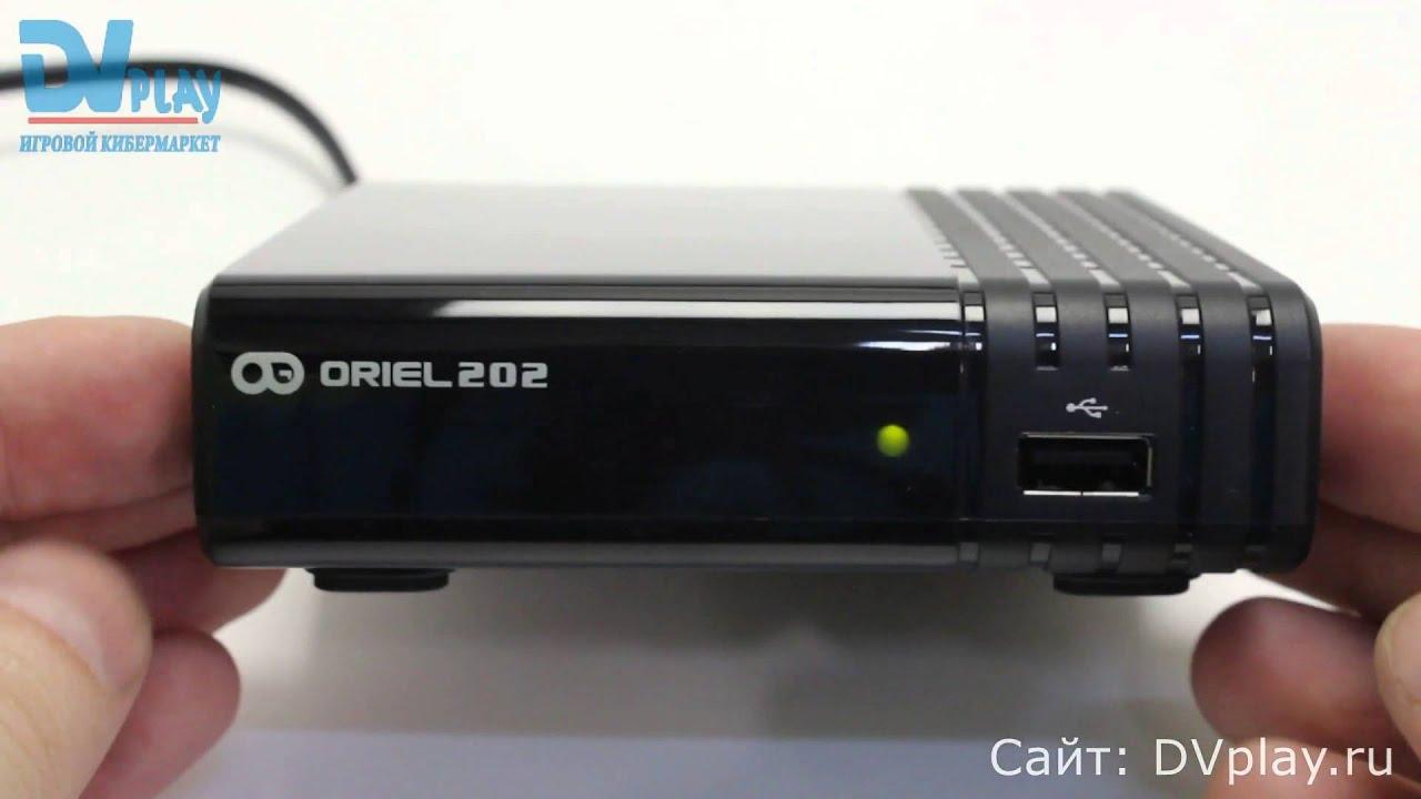 Oriel 202 - обзор DVB-T2 ресивера - YouTube