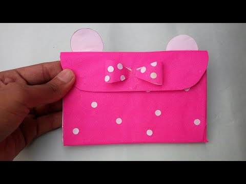 DIY Minnie Mouse Purse||Out of paper||Prachi art and Crafts
