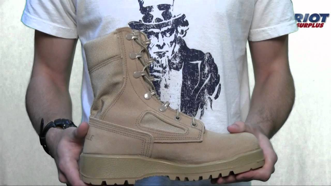 Belleville 390 Des Tan Desert Combat Boot Youtube