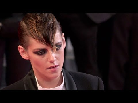Kristen Stewart on the red carpet for the Premiere of Un Couteau Dans Le Coeur in Cannes