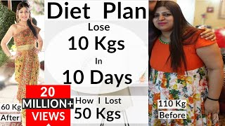 Diet Plans - Diet Plan To Lose Weight Fast In Hindi | Lose 10 Kgs In 10 Days
