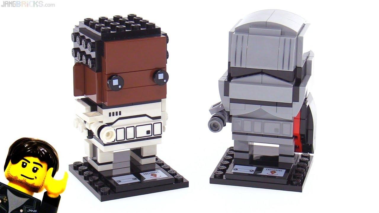 Lego Star Wars Brickheadz Finn Capt Phasma Review Youtube