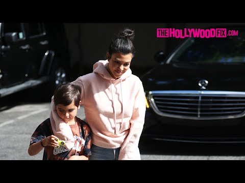 Kourtney Kardashian's Son Mason Shows Off His New Fidget Spinner While Running Errands 5.16.17