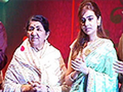 Lata Mangeshkar launches Radha Mangeshkar's Music Album