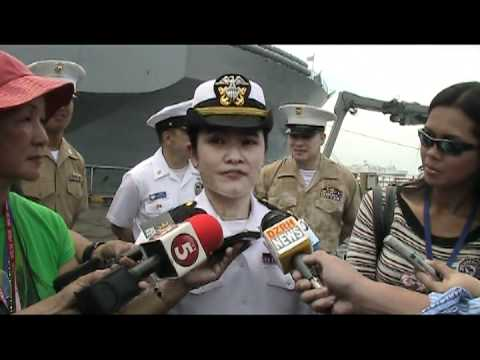 03-24-2012 PINAY SI USNAVY ENSIGN MA JOSEFA VELORIA  NG USS BLUE RIDGE COMMAND SHIP .mpg