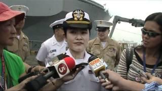 03-24-2012 PINAY SI USNAVY ENSIGN MA JOSEFA VELORIA  NG USS BLUE RIDGE COMMAND SHIP .mpg