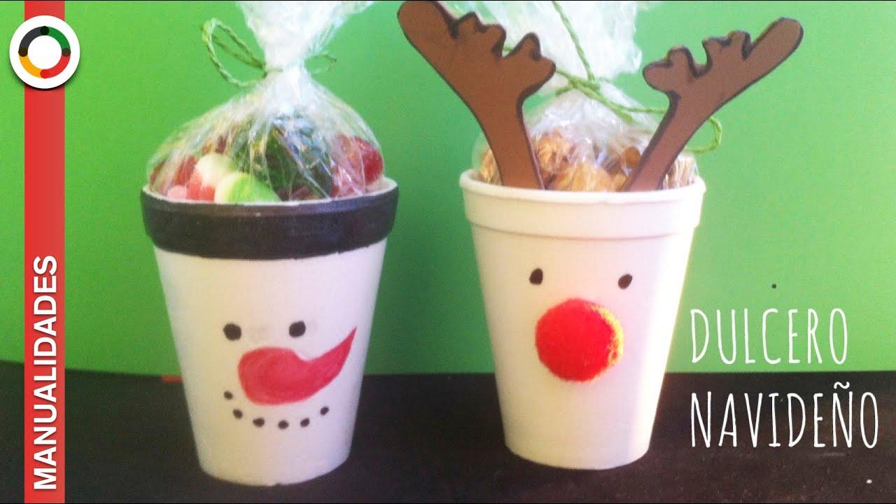 Manualidades detalle de navidad para regalar dulcero navide o youtube - Manualidades para navidades faciles ...