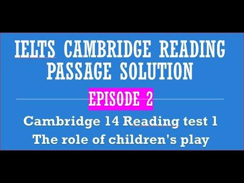 Download Cambridge reading passage solve Episode 2 #TheroleofChildren'splay #IELTSreading
