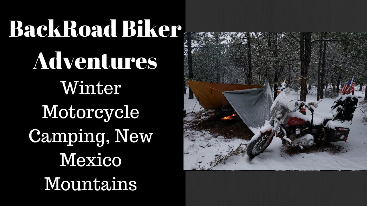 Winter Motorcycle Camping New Mexico Mountains December