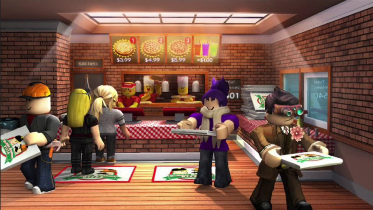 """""""Double Time Music"""" Work at a Pizza Place -1 hour [ROBLOX]"""
