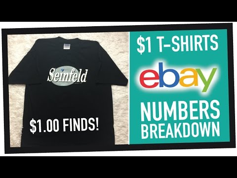 What did my $1 Thrift Store T-Shirts REALLY SELL for on eBay? #2017FlipChallenge