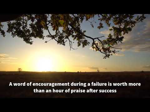 A word of encouragement during a failure is worth more than an hour of praise after success