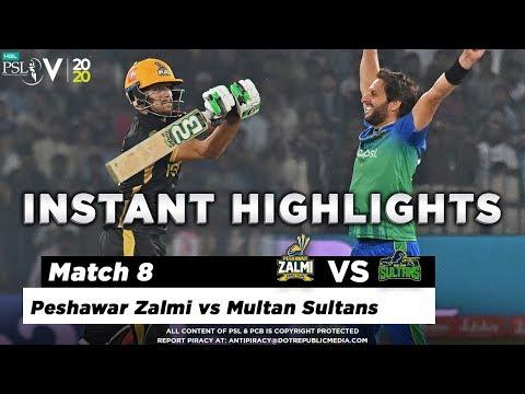 Multan Sultans vs Peshawar Zalmi   Full Match Instant Highlights   Match 8   26 Feb   HBL PSL 2020