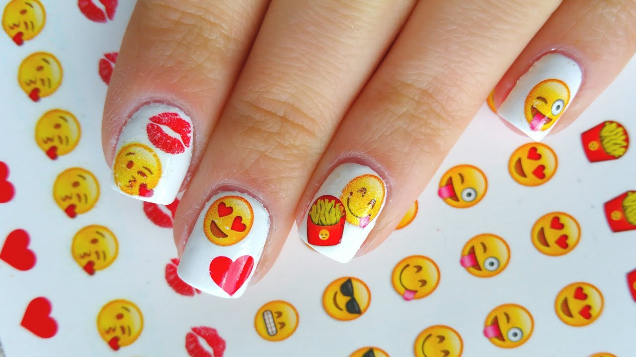 EMOJI NAILS - YouTube