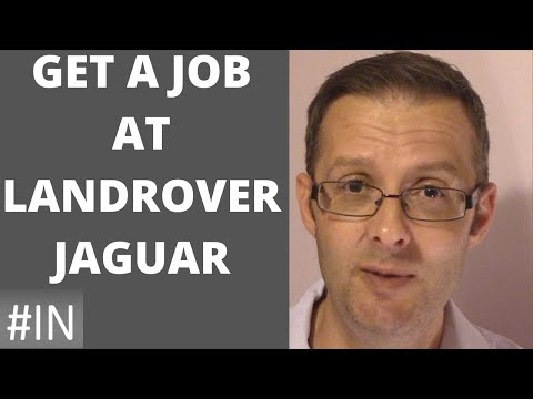 How to get a job at Jaguar Land Rover
