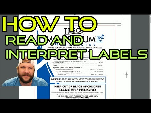 HOW TO: Read And Interpret Herbicide Labels